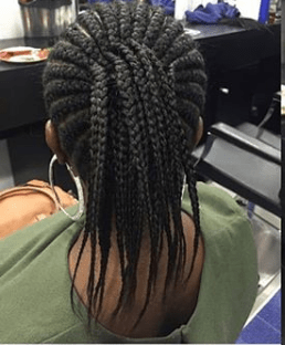 protective style with long relaxed hair