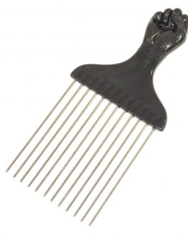 Afro Comb –  Black Fist Metal design